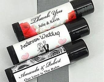 Customized Wedding Lip Balm (Black Tube) Set of 24