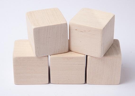 1 1 2 inch 4 cm unfinished wood blocks for wood crafts. Black Bedroom Furniture Sets. Home Design Ideas
