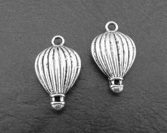 6 Hot Air Balloon Charms, Travel Charms, Air Balloon Charms, Earring Findings, Jewellery Supplies.