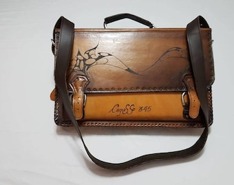 Cayasso 100 % Leather  Briefcase