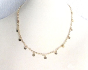 Nancy Botwin Gold Disc Necklace