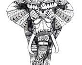 Watercolor Elephant Paint...