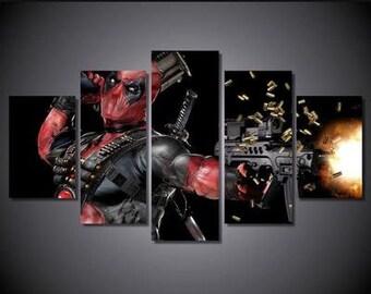 Deadpool 5pc Canvas Set