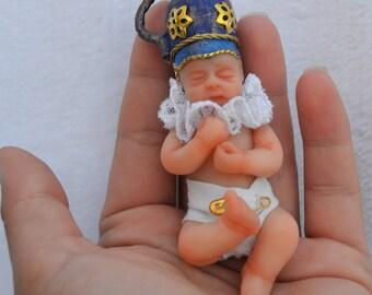 Aquarius car charm horoscope zodiac polymer clay baby car decoration
