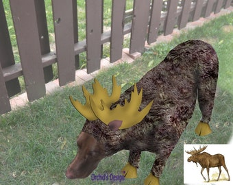 Halloween dog costumes/Special order, custom made, dog costume moose for large dog