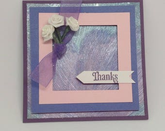 Roses Pearlescent Pay-It-Forward Thank You Card