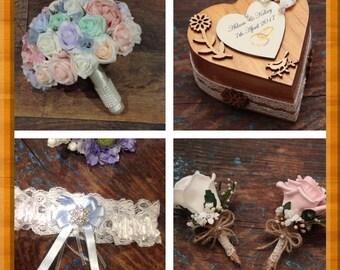 Bridal bouquet accessory vintage package
