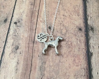 Boxer dog initial necklace - boxer jewelry, dog breed jewelry, boxer dog gift, dog breed pendant, silver boxer dog pendant, silver boxer dog
