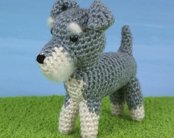 PDF AmiDogs Miniature Schnauzer amigurumi dog CROCHET PATTERN