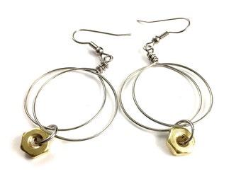 Hoop Earrings Wire Hardware Jewelry
