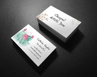 Flowered Natural Bouquet Business Card Design Template V.5