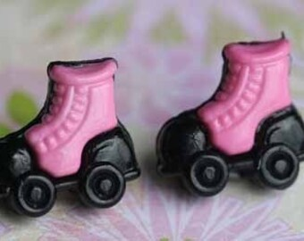 At The Roller Derby Stud Post Earrings