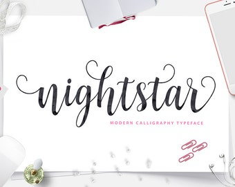 Nightstar Modern Calligraphy Typeface