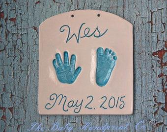 Souvenir de l'empreinte de la main - pour bébé à la main et l'empreinte souvenir - bébé personnalisé naissance souvenir - souvenir de bébé personnalisé - héritage - souvenir de bébé