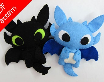 Dragon or Toothless Alike Plush PDF Pattern -Instant Digital Download