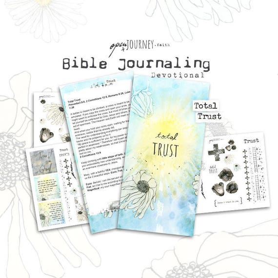 Total Trust - a Bible journaling creative devotional -digital download