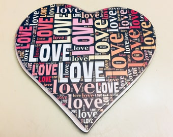 Secret Message in a Heart Puzzle - Valentines Day - Mothers Day - Words of Love - Wedding Gift