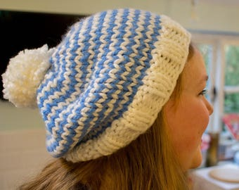 The Cotham Hat- Super Slouchy Chunky Knit Beanie