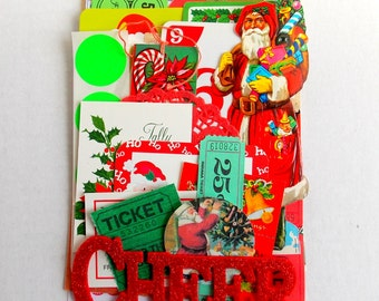 Christmas Ephemera Pack / 35+ Pieces / Daily Planner / December / Junk Journal / Gift Tags