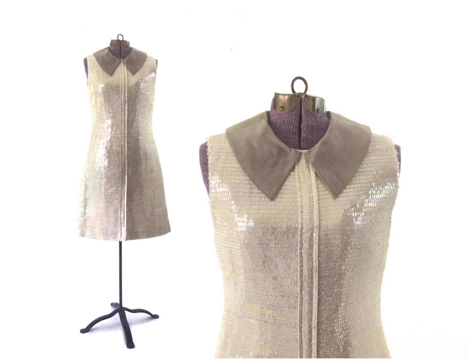1960er Jahre Pailletten Kleid 60er Jahre Vintage Kleid