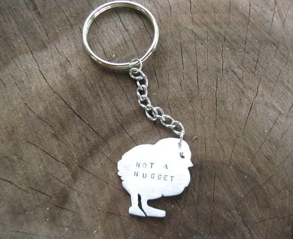 Vegan Keychain-Not a Nugget Chick Keychain-Chicken Keychain-Vegan Accessories-Men's-Gift-Birthday-Anniversary-Farm Animals-Eco Friendly