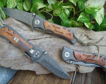 Personalized Knife, Engrave Pocket, Groomsman , Knife Groomsmen, Engraved,Knife Personalized, Groomsman Knife, Best Man,FREE SHIPPING 339