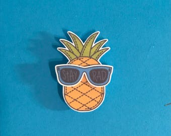 piña party pineapple sunglasses - stay rad pin