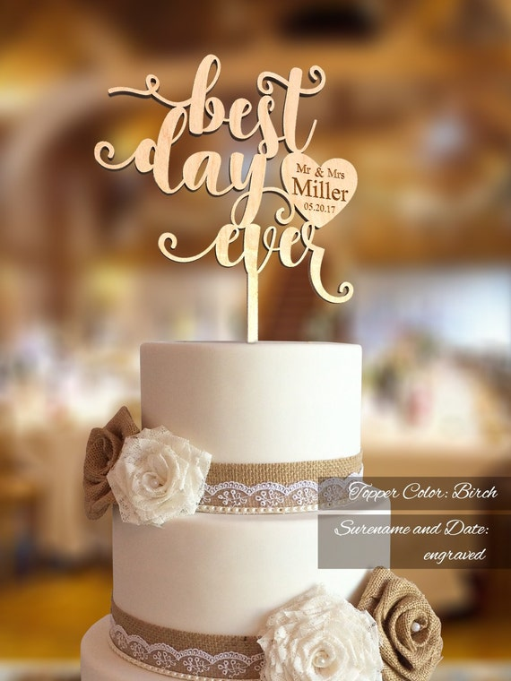 wedding cake topper mr and mrs best day wedding cake topper wedding cake topper fn30 8809