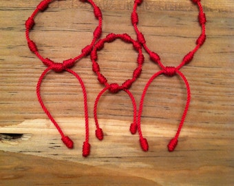 Mommy, Daddy and Me red string bracelet.Red string bracelet. String bracelet. Kabbalah