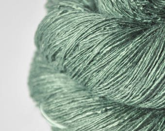 Glass frog - Tussah Silk Lace Yarn