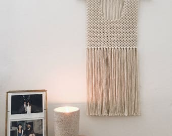 "Minimal Macramé Wall Hanging - ""Ojai"""