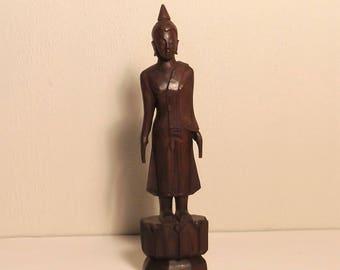 Hand Carved ebony Buddha, Burma/Laos