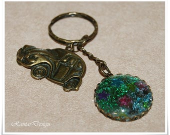Key fob Beetle Cute Keychain