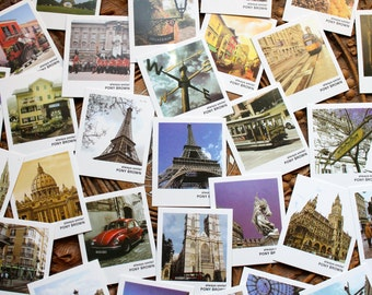 40 Mini postcards, Travel Cards Thank you cards, Wedding Wishes Idea