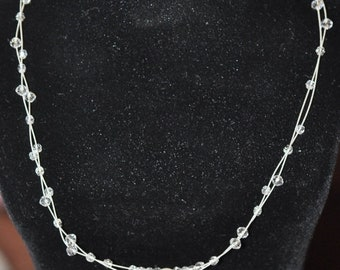 Spring Clear Out Sale Floating Crystal Necklace