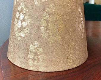 Aztec Gold Patterned Lamp Shade