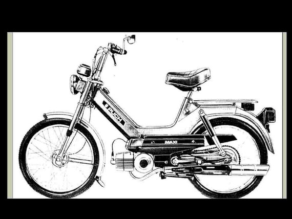 puch scooter service parts manuals 250pg w maxi sport rh etsy com puch maxi service manual pdf download puch maxi service manual pdf download