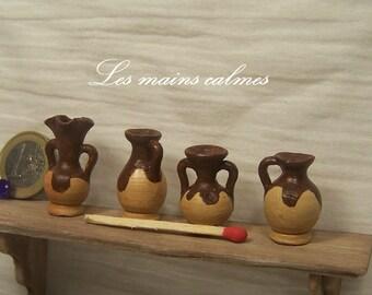 Miniature pottery set of 4