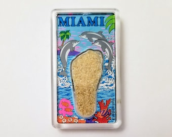 Miami, Florida - Vintage Magnet for the Fridge, Kitchen, Crafts