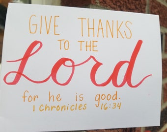 1 Chronicles 16:34- Set of 25 Thanksgiving Cards