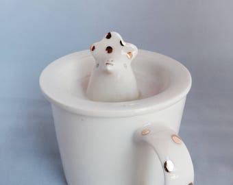 Whimsical Creatures Mug with Lid