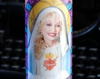 Saint Dolly Parton Prayer Candle