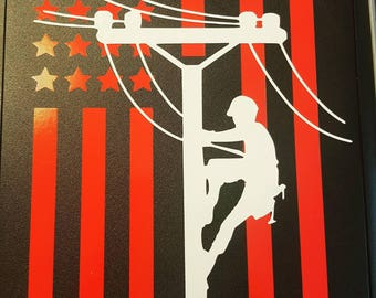 American Lineman Decal