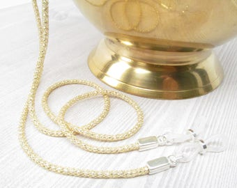 Gold and Silver Mesh Spectacles Chain; Gold Glasses Chain; Glasses Leash; Reading Glasses Holder Necklace; Gold Glasses Cord; Kalxdesigns