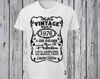 Vintage Birthday Pick a Year  Iron Tshirt Design FILE ONLY! Birthday Tee shirt- - Aged to Perfection- Over the Hill- Pick a number vintage