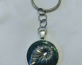 Seashell keychain.