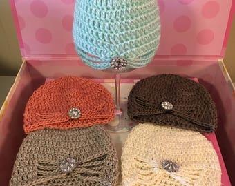 crochet newborn turban photo prop, turban beanie, baby girl turban hat, newborn prop, baby shower gift, newborn girl beanie turban hat