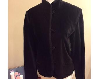 Vintage Elliott Bass Velvet Mandarin Jacket