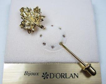 DOrlan Gold Plated Maple Leaf Brooch 1043