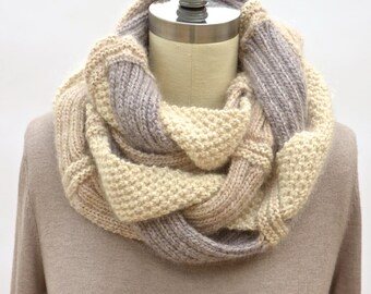 Challah Infinity Scarf PDF Knitting Pattern Instant Download (ENGLISH ONLY)